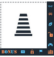traffic cone icon flat vector image vector image