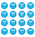 web document icon blue vector image vector image