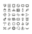Web line icon set Thin icons vector image