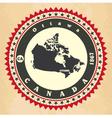 Vintage label-sticker cards of Canada vector image