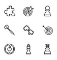 9 strategy icons vector image vector image