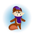 a cute fox in scarf and hat vector image vector image