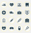 antibiotic icons set collection of bus retreat vector image vector image