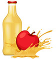 apple and apple juice vector image