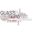 auto glass for your vehicle text background word vector image vector image