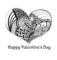 Black sketch valentine heart vector image vector image