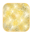 Button square New Year fireworks gold background vector image vector image