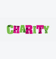 charity concept stamped word art vector image vector image