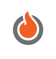circle fire logo or icon design vector image vector image