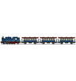Classic blue steam train vector image