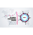 coronavirus financial crisis economic stock market vector image