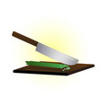 cutting knife vector image vector image
