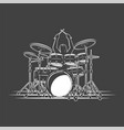 drummer plays percussion instruments vector image vector image