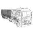 dump truck isolated white vector image vector image