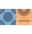 Elegant Oriental Invitation Print Yoga Ornament vector image