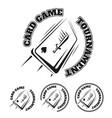 emblem card game vector image