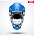 floorball and floor hockey helmet vector image vector image