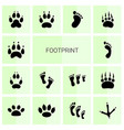 footprint icons vector image vector image