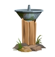 Fountain with drinking water outdoors steel bowl vector image