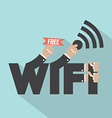 Free Wifi Typography Design vector image