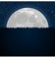 full moon star night starry sky grass vector image vector image