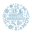 genetic research round biology linear vector image vector image