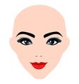 Girl portrait silhouette icon monochrome vector image vector image