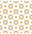 golden seamless pattern in arabian style white vector image vector image