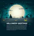 halloween greetings poster vector image vector image