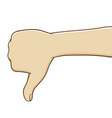 hands thumbs down vector image vector image