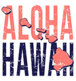 hawaii state map poster grunge style vector image