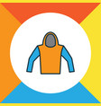 hoodie colorful outline symbol premium quality vector image