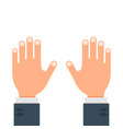 human hands gesture flat design isolated on white vector image vector image