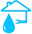 isolated icon with wrench home and drop vector image vector image