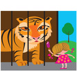 Litlle girl in a zoo vector image
