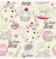 Love Tea Pattern vector image vector image
