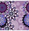 Mandala ornament seamless pattern vector image vector image