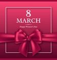 march 8 greeting card for international womans day vector image vector image