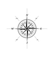 marine compass vector image vector image