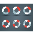 Modern circle arrows for info graphic vector image vector image
