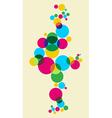 Multicolored bubbles background vector image vector image