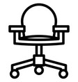 officer chair icon with outline style eps10 vector image
