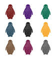 penguinanimals single icon in black style vector image vector image