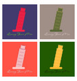 piza tower italy icon design vector image vector image