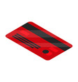red credit card icon isometric style vector image vector image