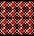 red seamless dot pattern background - abstract vector image vector image