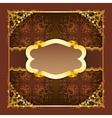 Royal frame with ribbons on seamless ornament vector image