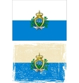 San Marino grunge flag vector image vector image