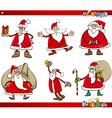 santa on christmas time set vector image vector image