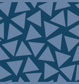 seamless pattern blue triangles random vector image